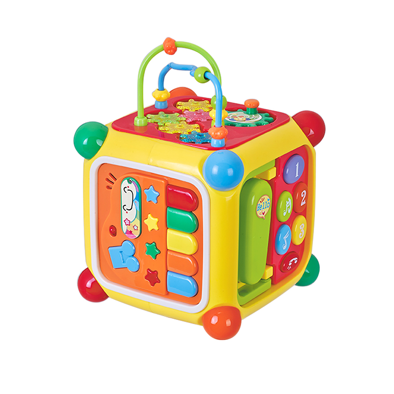 Baby Toys Musical Instrument Activity Cube With Play Piano music Telephone Gear Functions For Children Learning Educational Toys цена