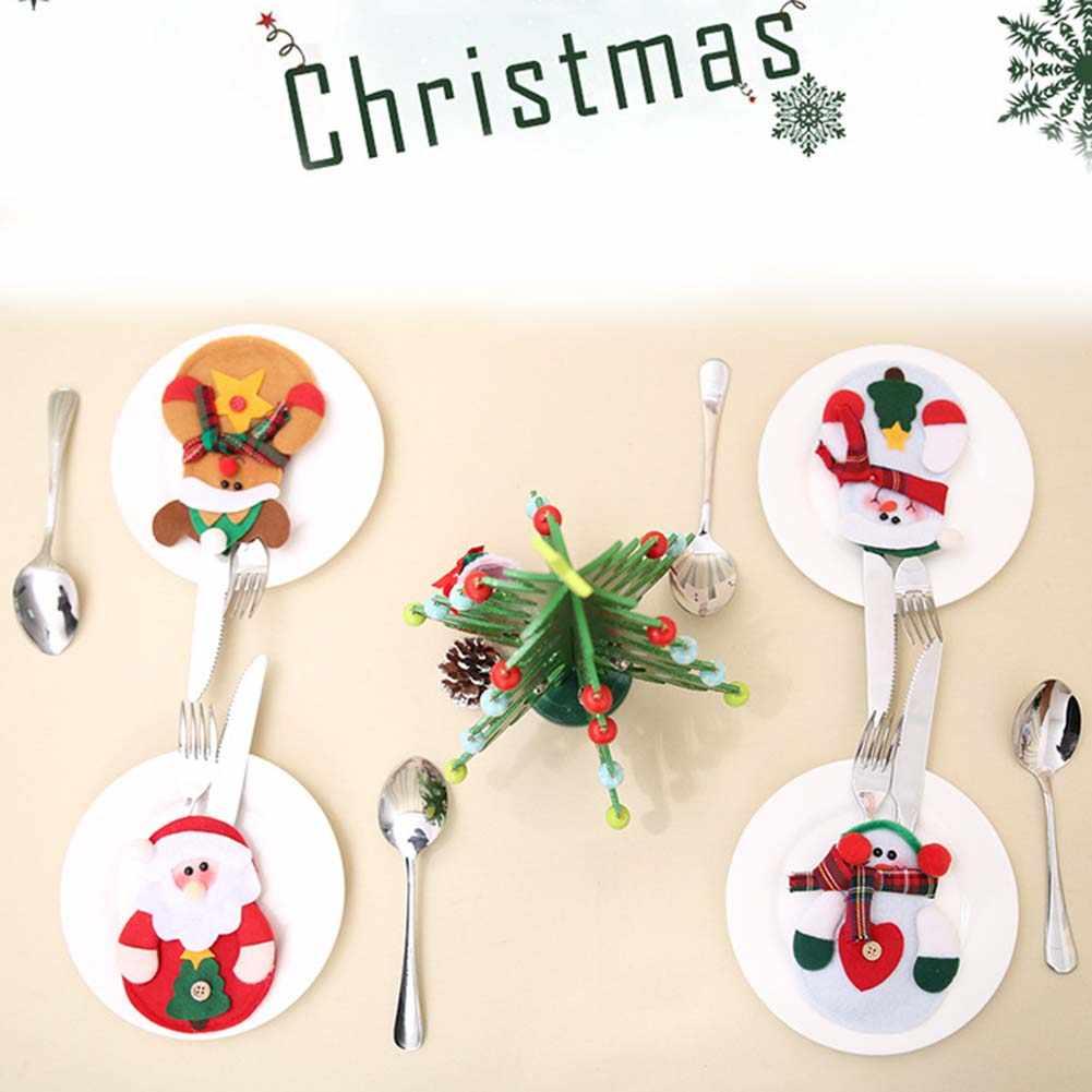 جديد وصول سكين و شوكة حقيبة التخزين Chirstmas أواني الطعام المنظمون المنزل فندق عيد الميلاد زينة الإبداعية الهدايا الجدول تخزين