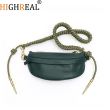 HIGHREAL Chest Bag Women Waist Bag Luxury Brand Fashion Handbag Orange Yellow Navy Green Black Fall Winter New Drop shipping
