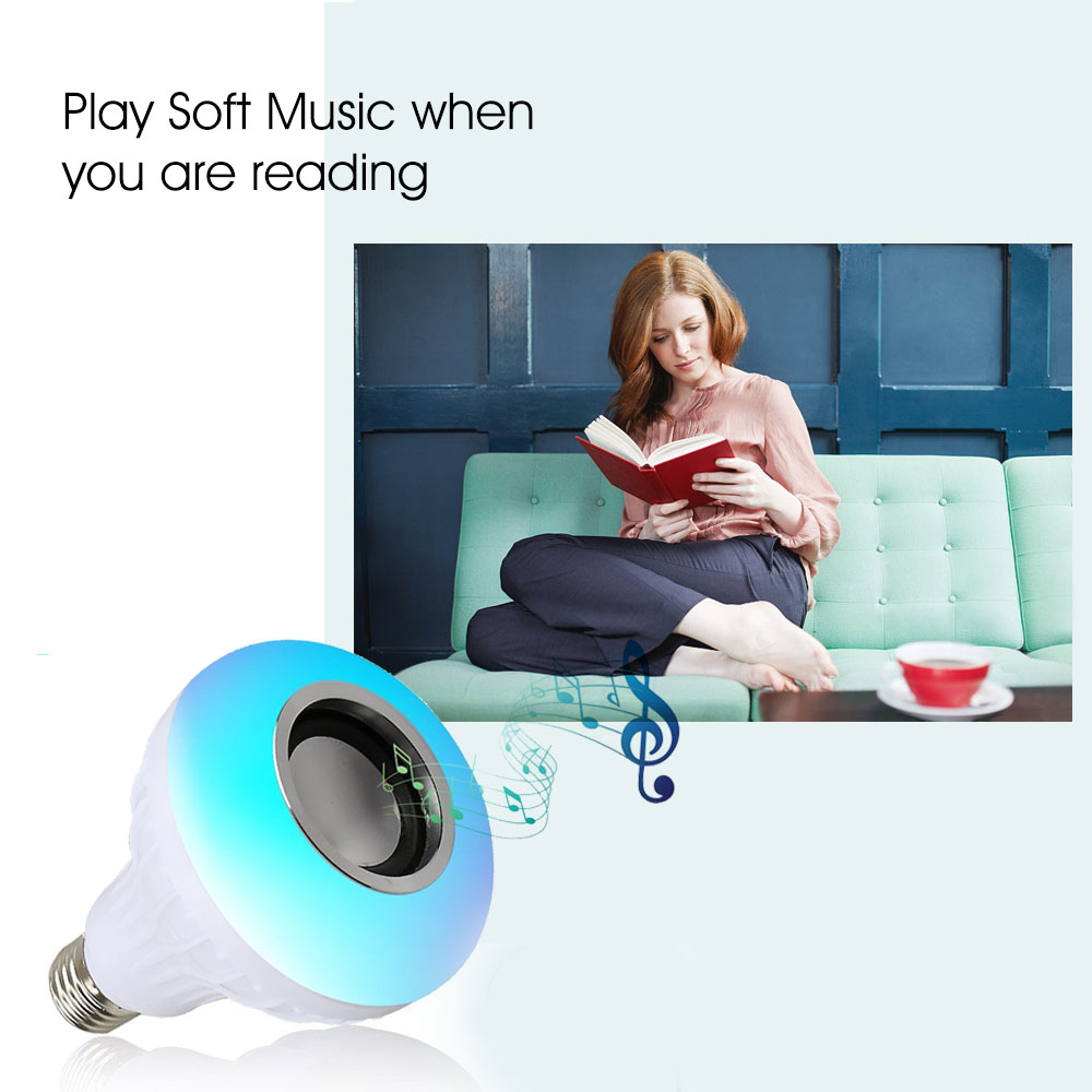 geekoplanet.com - E27 B22 Wireless Bluetooth Speaker+12W RGB Bulb LED Lamp 110V 220V