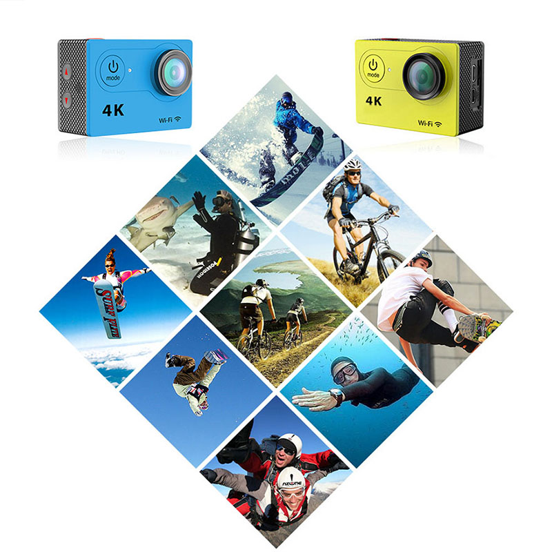 Action camera Ultra HD 4K   WiFi 2.0  waterproof  Helmet Cam underwater go Sport Action camera Car Dvr  waterproof Sport camera