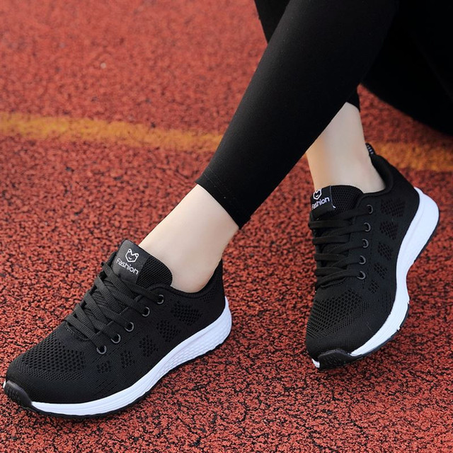 d2e3d6ac9 Fast delivery Women casual shoes fashion breathable Walking mesh lace up  flat shoes sneakers women 2019 tenis feminino 35-40