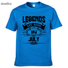 ccc4bb7fe Legends Are Born In July Funny Birthday Dad Gift Fashion Men's T Shirt Cool  Tops Cotton O-Neck Short Sleeve Tees
