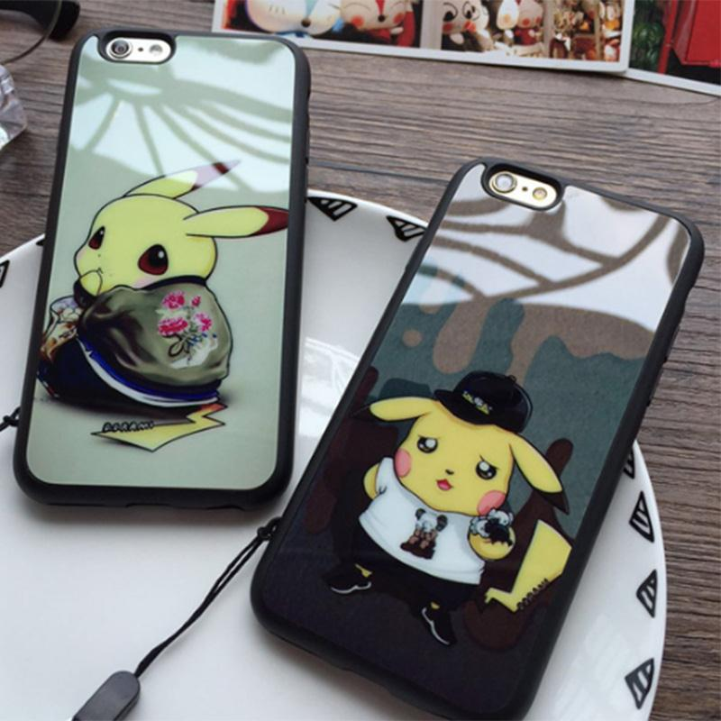 New Cartoon Soft Silicon Screen Protector Phone Case For Pocket Monsters For Pika chu For Poke mon Back Cover For iPhone 6 6S