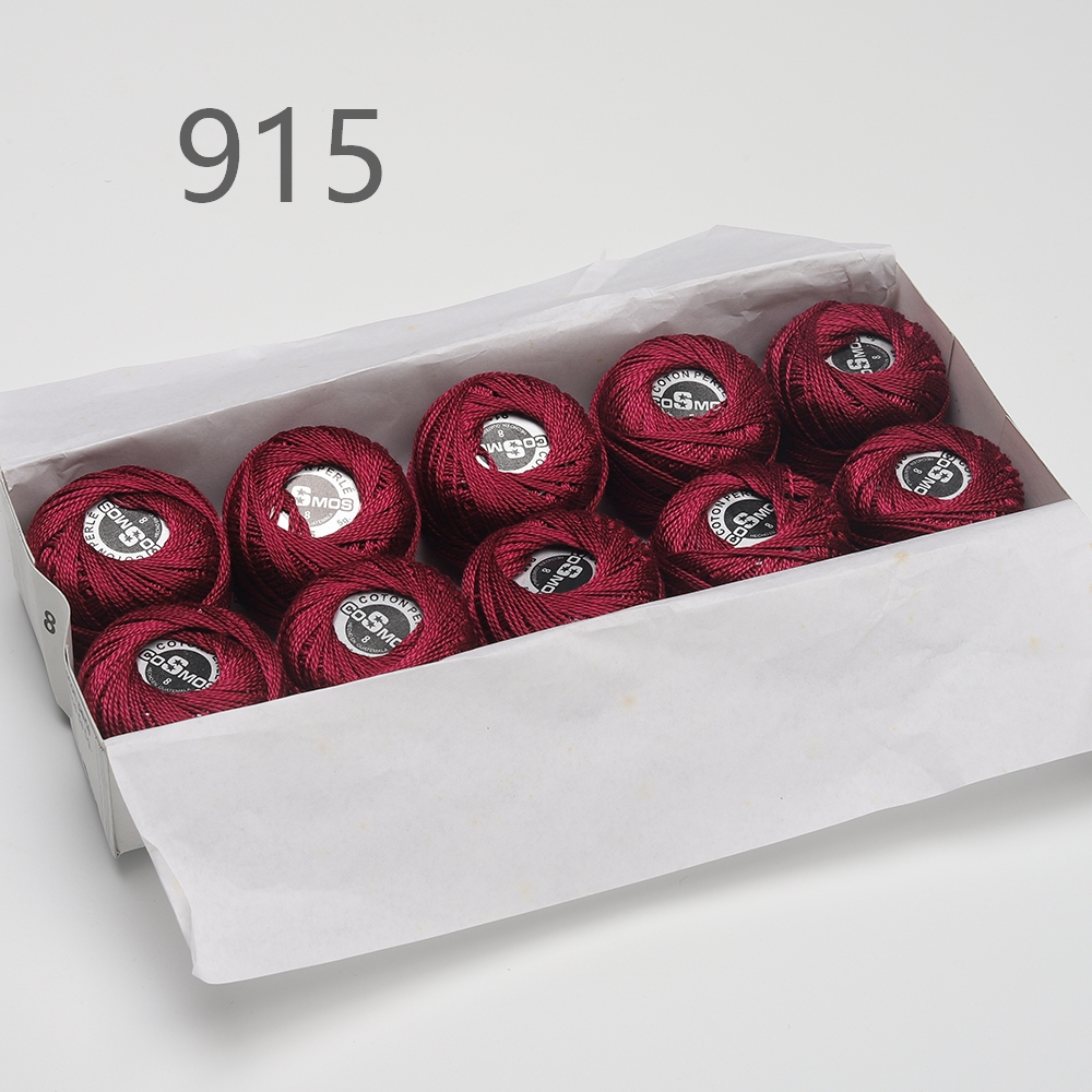 5 граммов размер, 8 жемчужных хлопковых нитей для вышивки крестиком, 43 ярдов на шарик, Двойной Мерсеризованный длинный штапельный хлопок, 10 шт./col