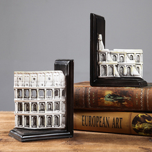 Europe American Style Retro bookends Handicraft Creative Resin bookshelf  furnishing articles bookcase