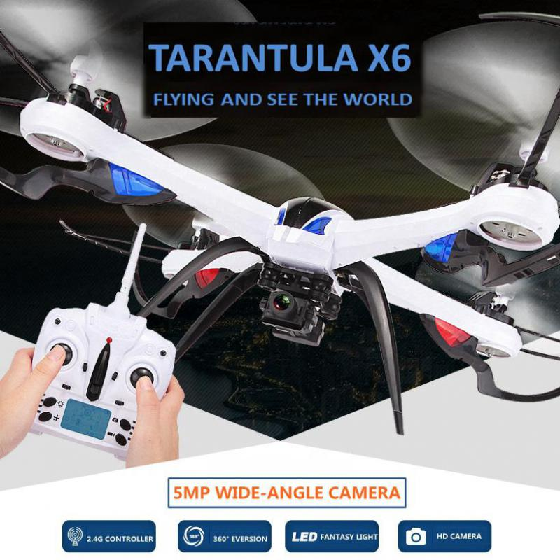 2.4G 4CH 6 Axis Gyro RC Quadcopter tarantula x6 drone with camera RTF 360 Flips 3D Stunt Headless Mode with extra battery gifts mini rc drone jjrc h30ch 2 4ghz 4ch 6 axis gyro quadcopter headless mode drone flying helicopter with 2 0mp hd camera gifts zk40