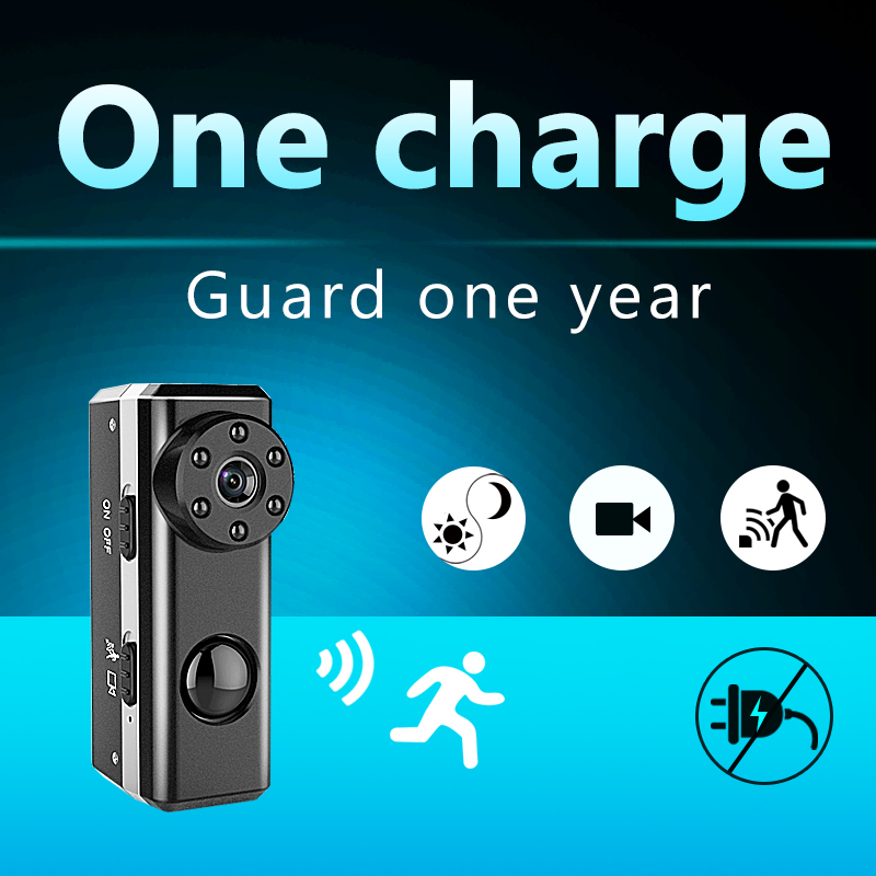 PIR HD1080P Mini Camera Portable Camera Covert Nanny Cam Video Recorder Camcorder Built-in 3300 mAh Battery 1 Year Long Standby