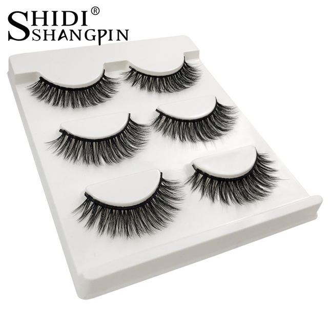 Eyelashes 3d mink lashes natural long make up false eyelashes 10mm eyelash glue makeup eye lashes tweezers 3d lashes maquiagem 2
