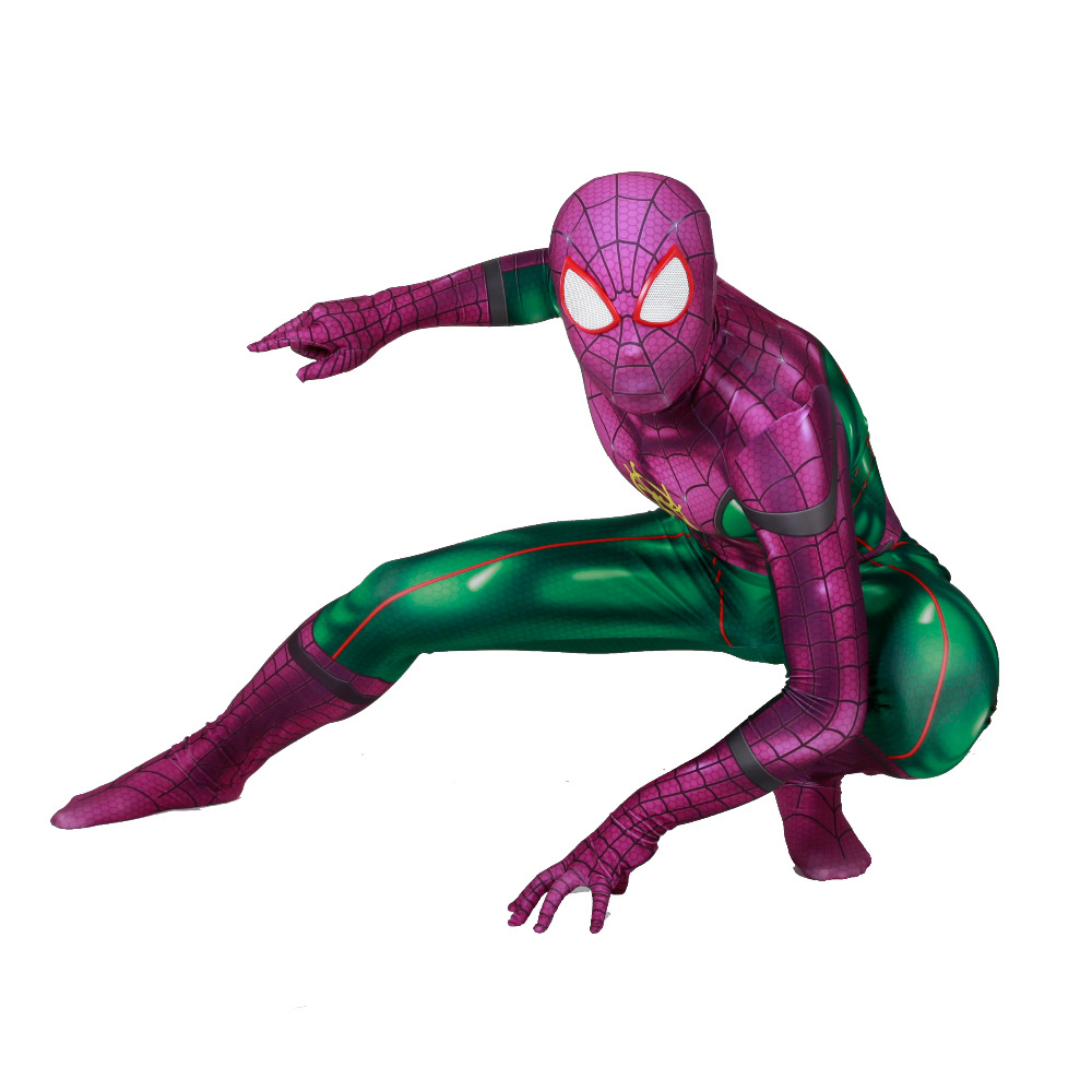 SpiderMan Into the Spider Verse Zentai Comic-Con Halloween Saints' All Cosplay Costume tights jumpsuit adults/children/kids image
