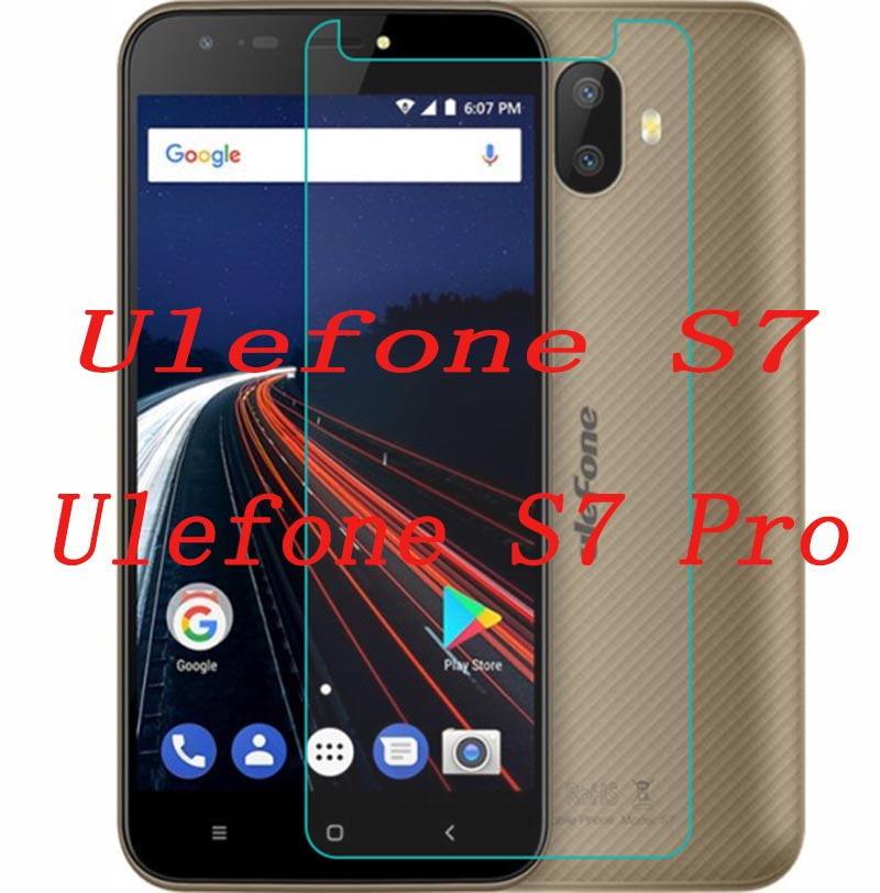 2PCS Ulefone S7 Tempered Glass 100% Original Premium Ultra-thin Screen Protector Film For Ulefone S7 Pro Mobile Phone In Stock