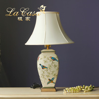 TUDA 2017 Table Lamps American Country Hand Painted Decorative Ceramic Lamp Bedside Lamp