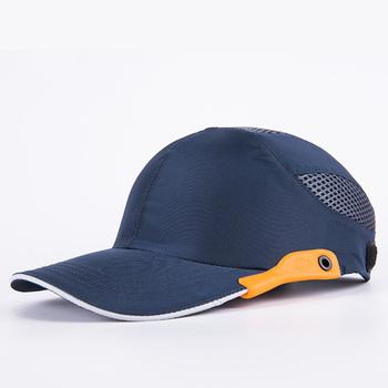 Męskie niebieskie czapki z daszkiem bezpieczeństwa osobisty kask ochronny z wyposażeniem ochronnym tanie i dobre opinie CN (pochodzenie) Men s Blue Safety Baseball Bump Caps one size fits all Adjustable hook and loops strap For All Sizes