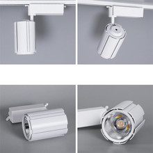 10W/20W/30W COB LED Track Light Lamp Clothing Shop Windows Showrooms Exhibition Spotlight LED Ceiling Rail Spot Lamp AC220 led track light track lighting cob 15w 20w 30w 36w clothing shop windows showroom exhibition spotlight ceiling rail spot lamp