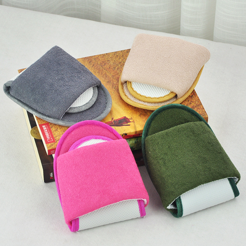 1 pair Foldable Home Hotel Breathable Slippers SPA Travel Salon Wear With Storage Cotton Cloth Travel Accessories image
