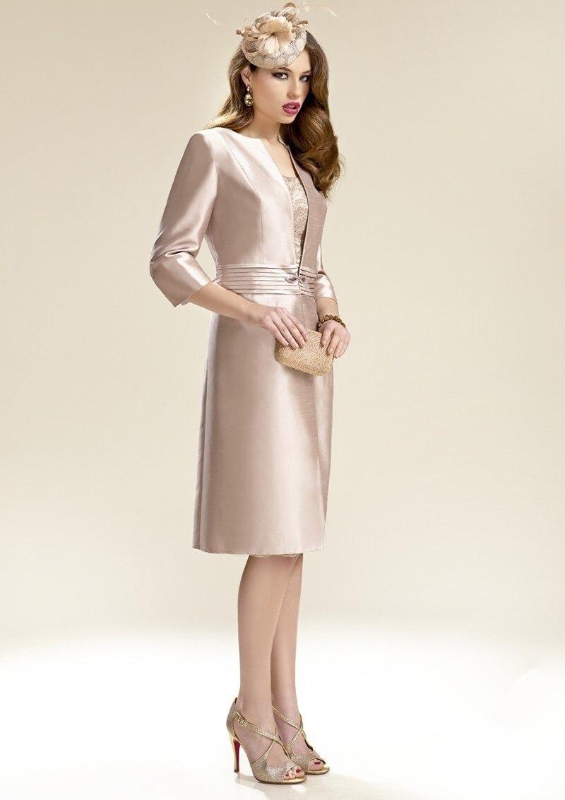 2015 Elegant Silver Grey Mother Of The Bride Dresses Knee length ...