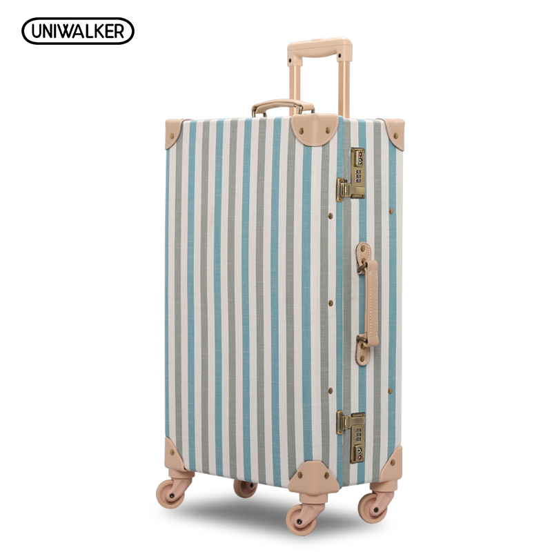 20 24 26 Inch 2PCS/SET Fresh Oxford Travel Trolley Luggage Scratch Resistant Rolling Luggage Bags Suitcase With TSA Lock 20 26 dark green vintage suitcase pu leather travel suitcase scratch resistant rolling luggage bags with universal wheels