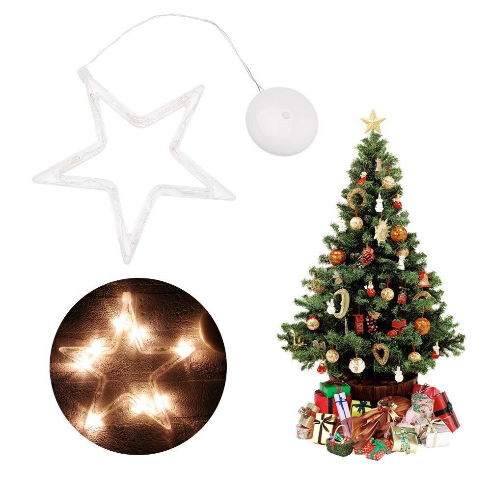 Sucker LED Christmas Light Deer Bell Xmas Tree Shape Fairy Light ...