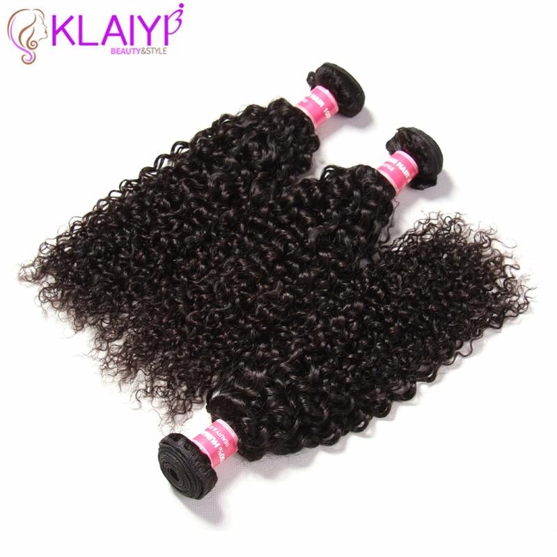 Klaiyi hair Bundles Indian Curly Hair 100 Human Hair Weave Bundle 8 To 26 Inch Natural