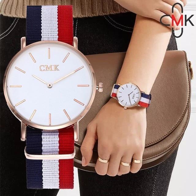 Unisex Men Women Watch Top Brand Luxury CMK Quartz Watch Fashion Casual Rose Gol
