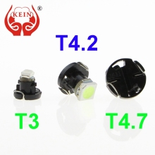 KEIN 1PCS Auto car led T3 T4.2 T4.7 1SMD Instrument dashboard Lights Lamp Bulb 12V white red yellow blue Vehicle indicator Lamp