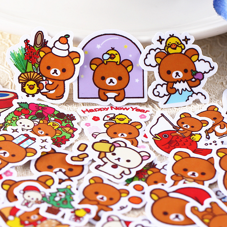 40pcs Creative Cute Self-made Bear Scrapbooking Stickers /decorative Sticker /DIY Craft Photo Albums