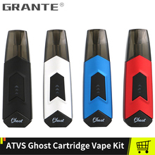 Original ATVS Ghost Cartridge Vape Pen Kit Built-in 350mah Battery Pod System With 1.5ml Capacity Pod original hotcig kubi pod vape kit with 550mah built in battery