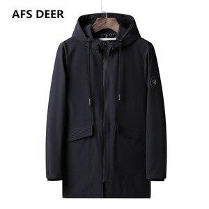 2019 marka wiosenny i jesienny nowy modny trencz kurtka płaszcz mężczyźni w dłuższym stylu znosić wiatrówka trencz męska kurtka Plus rozmiar