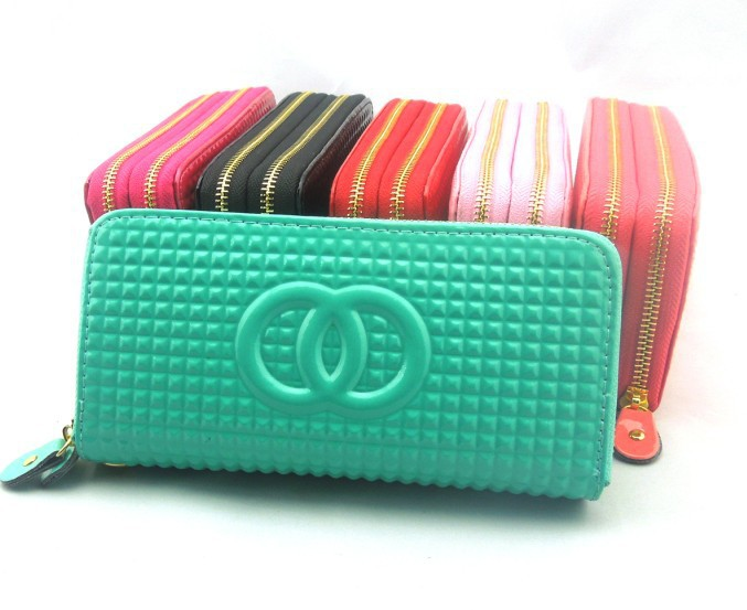 2014 new style brand women wallet leather double zipper girl purse clutch lady carteira handbag - small grass trading company store