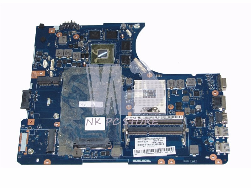 QIWY4 LA-8002P 11S900004 For Lenovo Y580 Laptop Motherboard MAIN BOARD HM76 DDR3 GTX660M Discrete Graphics 2GB nokotion for acer aspire 5750 laptop motherboard p5we0 la 6901p mainboard mbrcg02005 mb rcg02 005 mother board