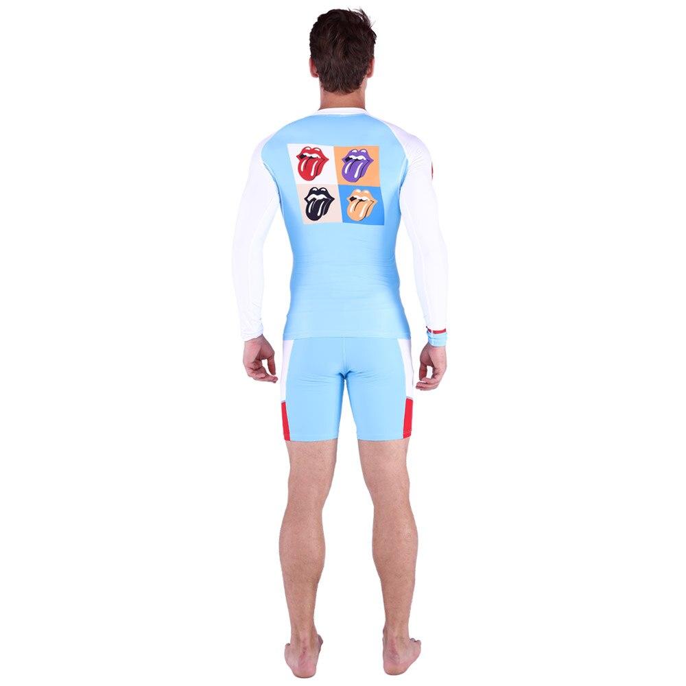 цена на Quick-Dry Diving Suit Swimsuit Snorkeling Swimming Surfing Rash Guard Long Sleeves T-Shirts Set Swimwear Men