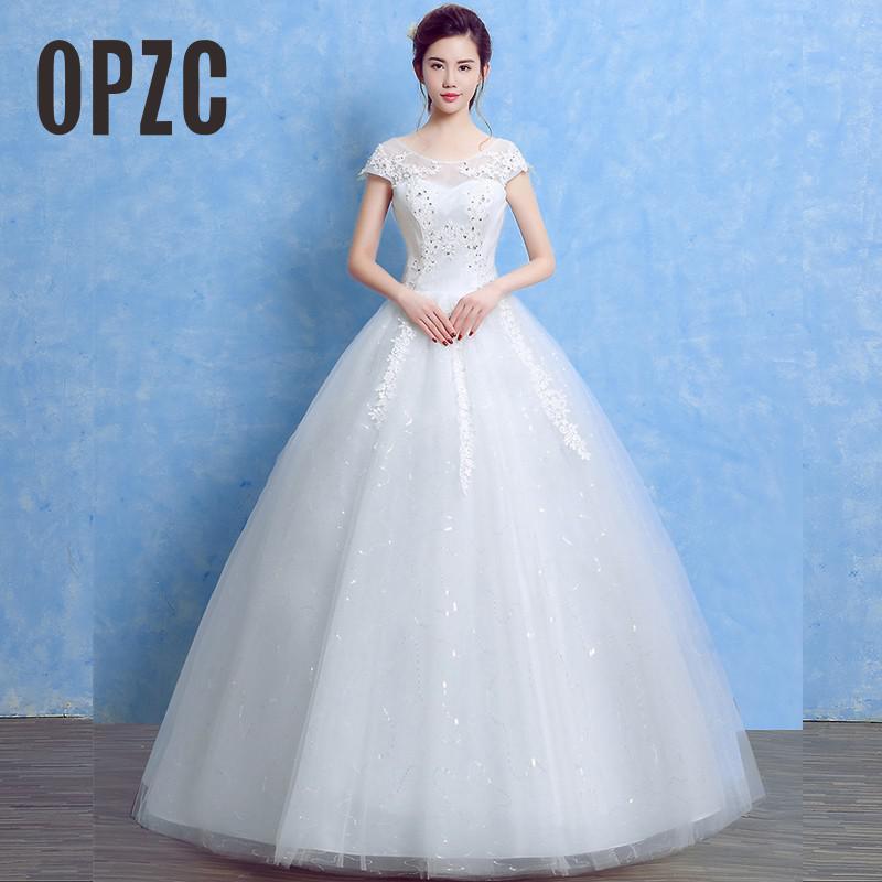 Cheap Lace With Crystal Elegant Wedding Dresses 2017 Romantic Bridal ...