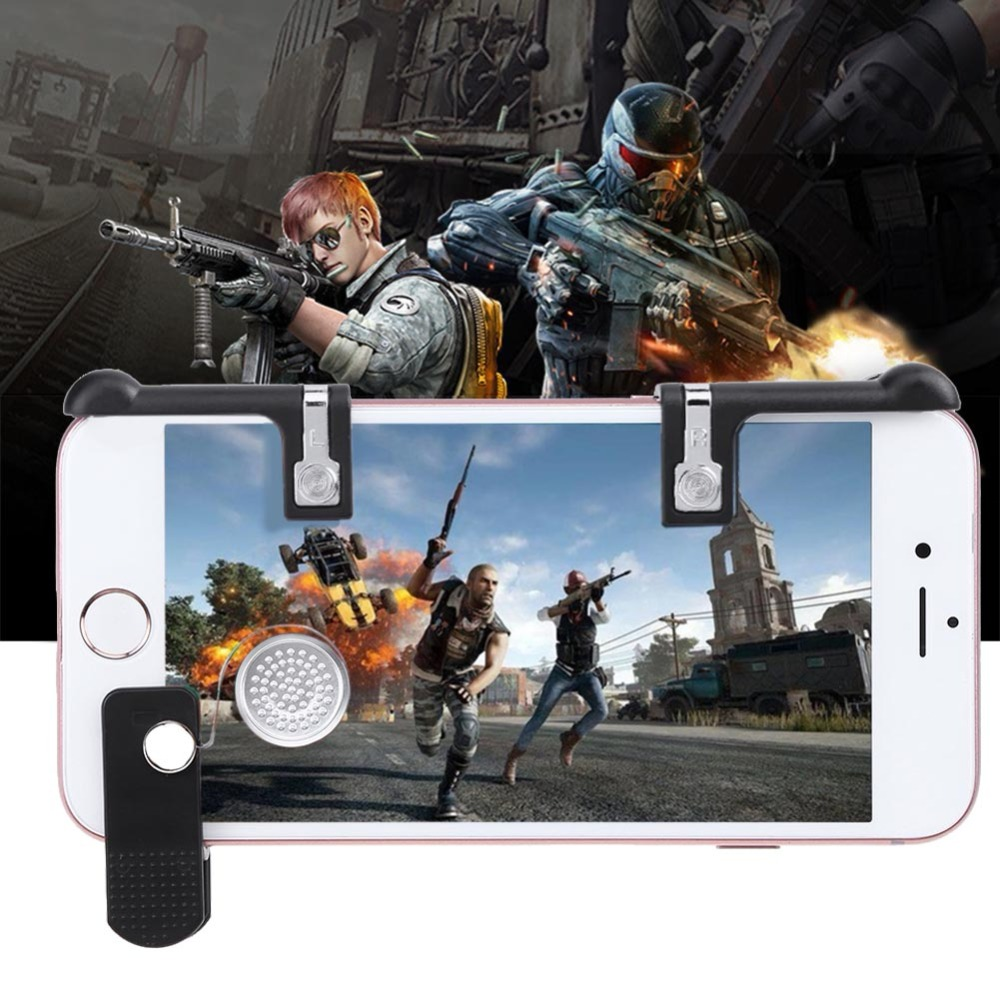 1pc for PUBG Phone Game Touch Type Quick Move Button + 2pcs Handle Joysticks Controller Assist Tools for STG FPS TPS Game