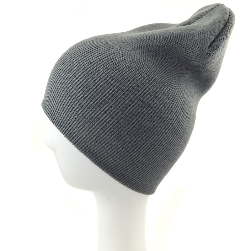 Hot Sale Simple Style Pure Color Winter Hats   Skullies     Beanies   Man Hats Knit Hats Cap For Women Men   Beanie   Warm Cap Free Shipping