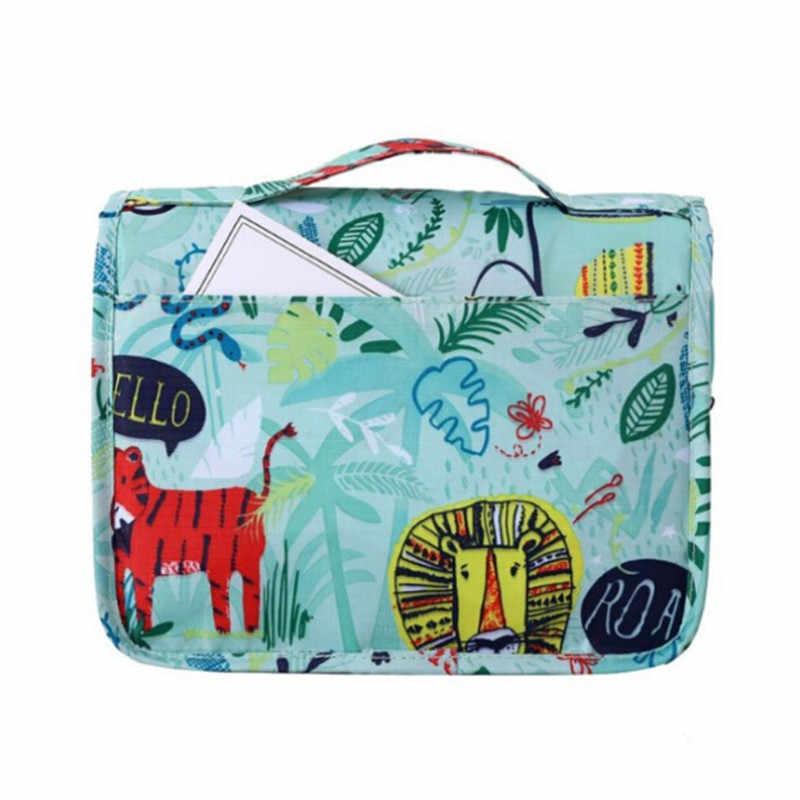 Подвесная дорожная косметичка, женская косметичка на молнии, Полиэстеровая вместительная сумка для макияжа, сумка-Органайзер для хранения, сумка для ванной