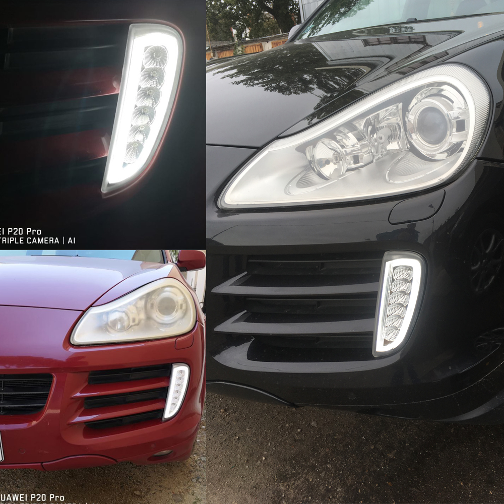 Estrella superior 12 W 2 unidades Led luces de funcionamiento del día, lámpara antiniebla frontal para coche DRL con función de luz ámbar para Honda CRV 2012 2014 - 6
