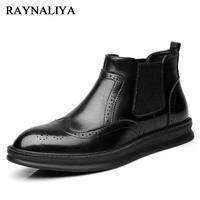 Comfortable Men Dress Shoes Round Toe Business Work Formal Oxfords Shoes Men S High Top Low