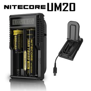 Image 1 - Nitecore cargador de batería inteligente UM20, Original, con pantalla LCD, alimentación USB Universal, batería de ion de litio