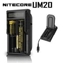 Nouveauté dorigine Nitecore chargeur de batterie intelligent UM20 Digicharger affichage LCD alimentation USB universelle pour batterie Li ion