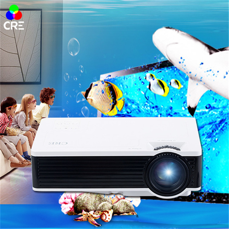 CRE X1600 Home Mini Projector 800*480p Support 1080P AV USB SD Card HDMI Interface For Kids Play Education Led Projectors(China)