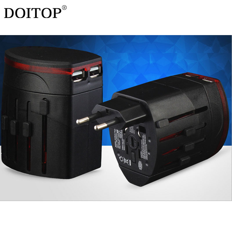 DOITOP Universal Electric Plug 100-240V Power Socket Adapter International Travel Adapter Socket USB Power Charger Converter