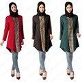 2016 мода высокое качество Ислам девушки топ повседневная шифон рубашка с длинным рукавом блузки топы плюс размер для женщин-мусульманок одежда