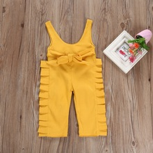 Toddler Girl Clothes Casual Baby Sleeveless Suspender Trousers Cute Cotton Fashion Bib Street Pant Kids Overalls 2-6T
