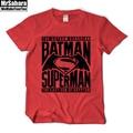 Dos homens T-Shirt Da Forma Legal Batman Vs Superman Logo Algodão de Manga Curta Camisa de T Para Homens Camisas de Verão Top Tee