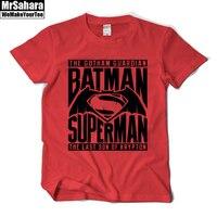 Nam Mát Thời Trang T-Shirt Batman Vs Superman Biểu Tượng Ngắn Tay Áo Bông Áo T Cho Nam Giới Mùa Hè Top Tee Áo Sơ Mi