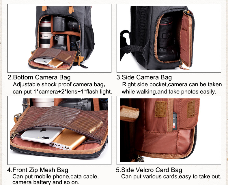 Business Backpack Photography Large Bag