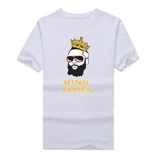 "2016 fashion James Harden Houston ""New King James"" T-shirt 100% cotton short sleeve o-neck T shirt 1018-6"