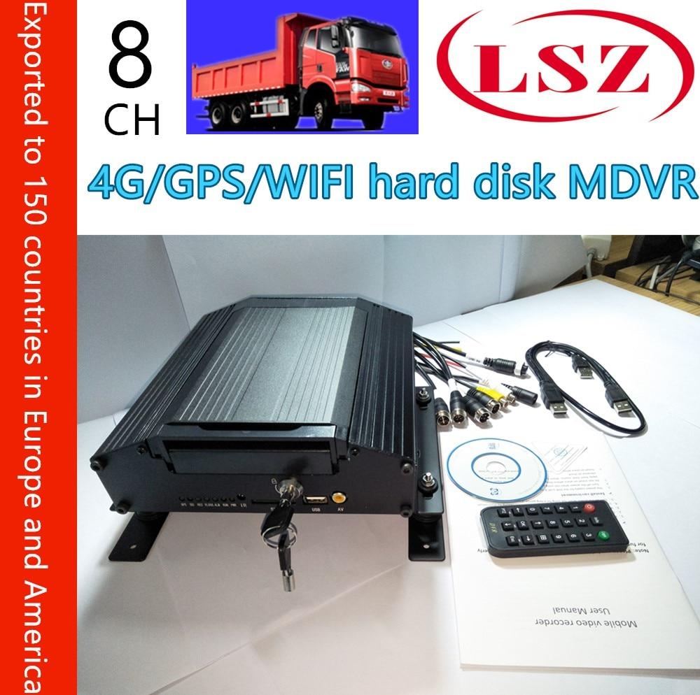 4G tam CNC MDVR araba video kaydedici GPS WiFi 8 kanal sabit disk izleme konak NTSC/PAL sistemi4G tam CNC MDVR araba video kaydedici GPS WiFi 8 kanal sabit disk izleme konak NTSC/PAL sistemi