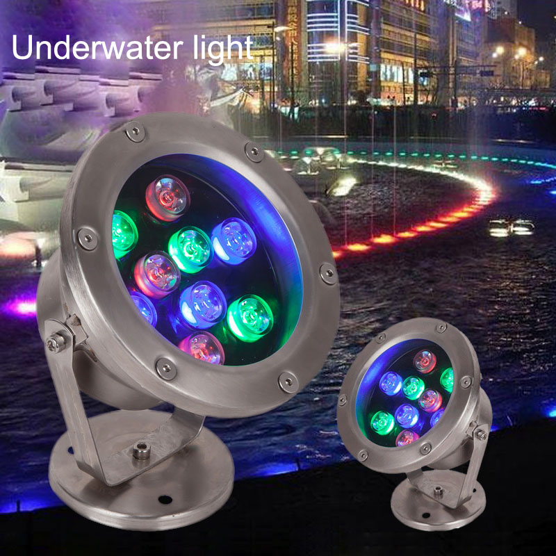 Free Shipping 10pcs Per Lot Dc/ac 12v 12w Led Underwater Light Lamp Fountain Lamp Led Swimming Pool Light