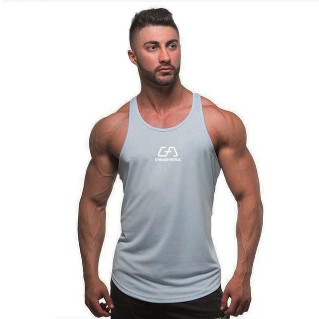 2017 Sleeveless Vest  gyms Brand singlet canotte bodybuilding stringer tank top men fitness T shirt muscle guys sleeveless vest